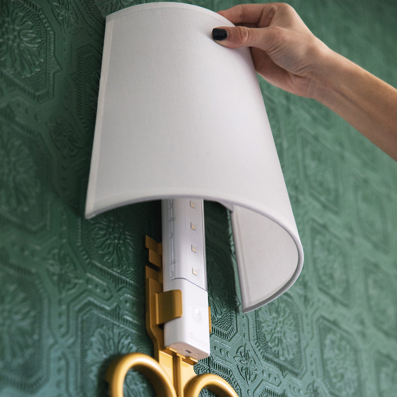 Gold Sconce Light Set Up