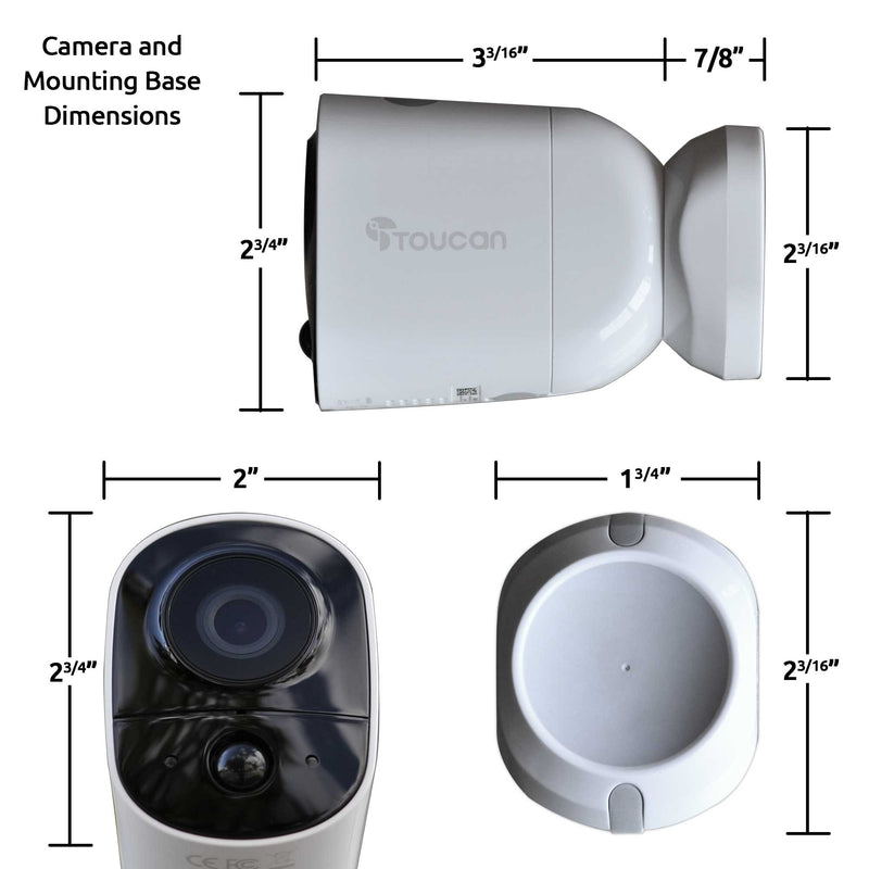 Wireless Outdoor Camera dimensions