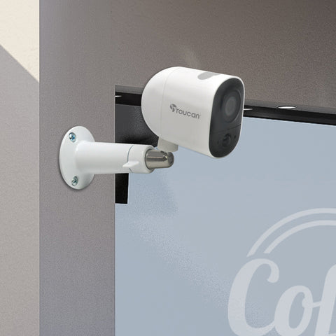 Toucan Wireless Outdoor Camera 2 Pack - Get 2 Extra Adjustable Metal Wall Mounts for FREE!