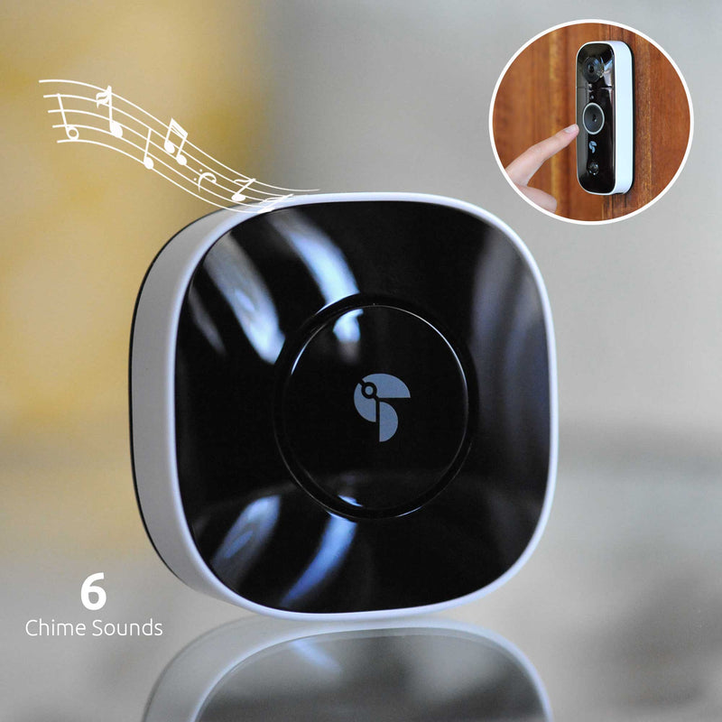 6 different chime sounds with the Toucan Wireless Chime