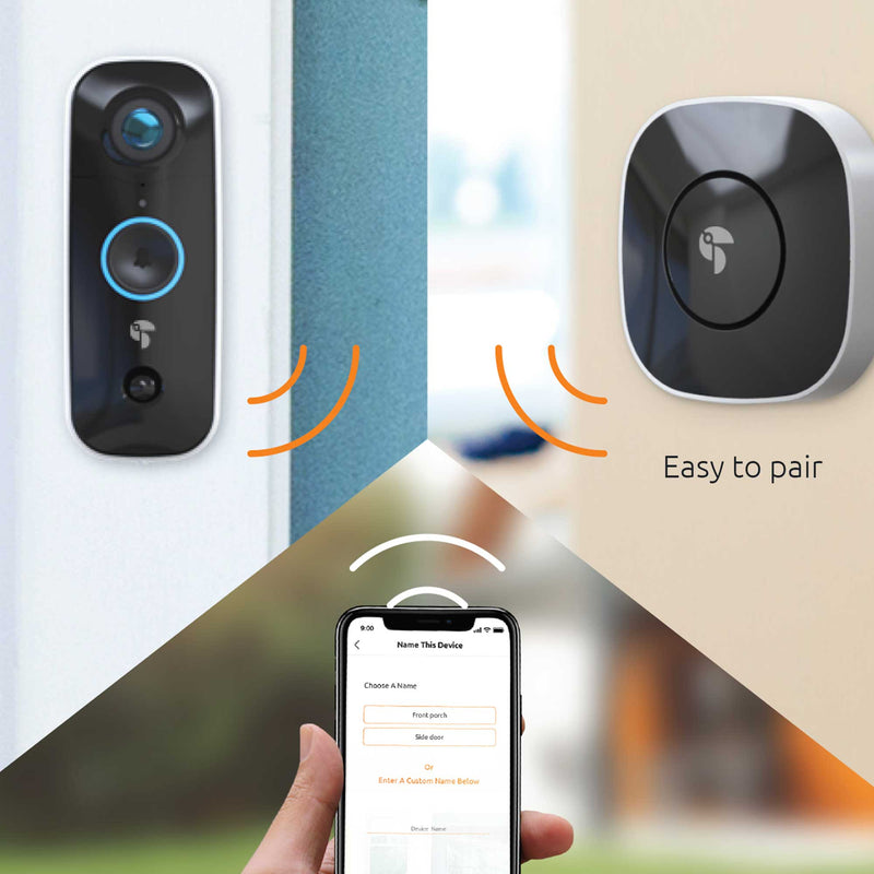 Pairing the wireless chime to the wifi doorbell camera