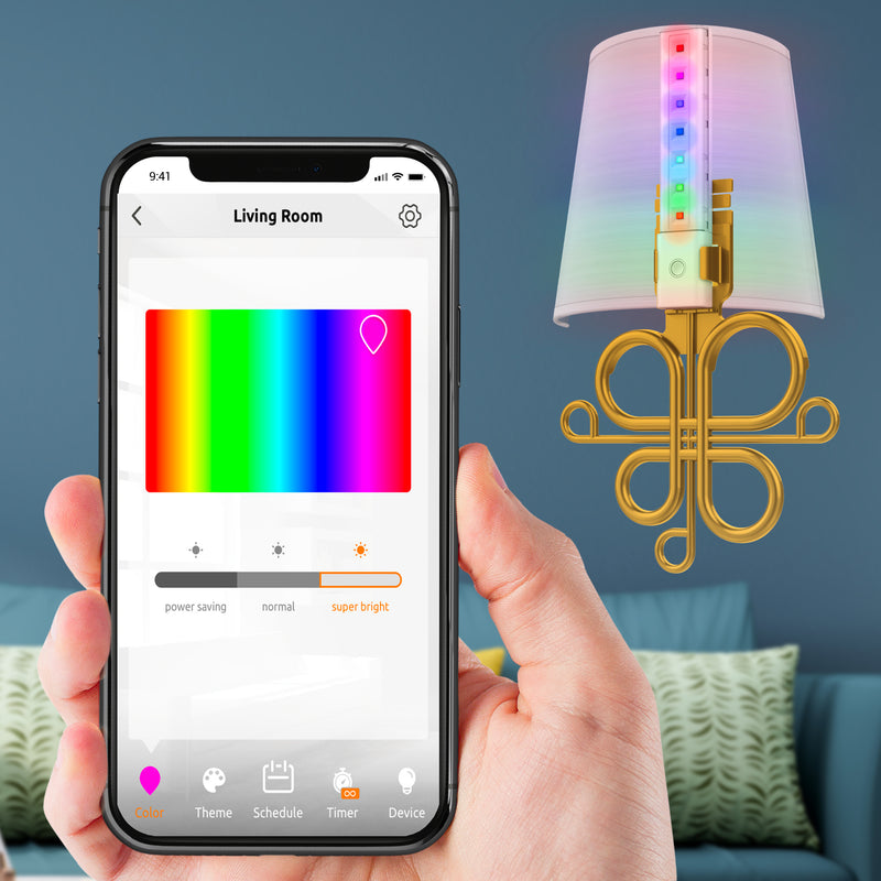 Color Changing Lights Toucan Wireless Smart Sconce Light