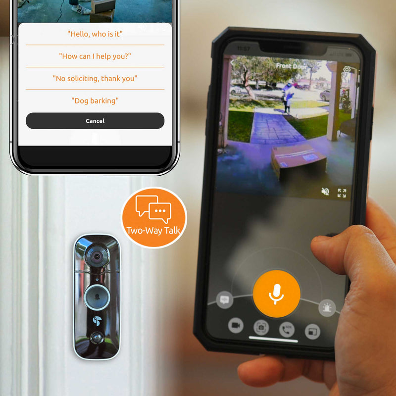 Two way talk with Toucan Wireless Video Doorbell