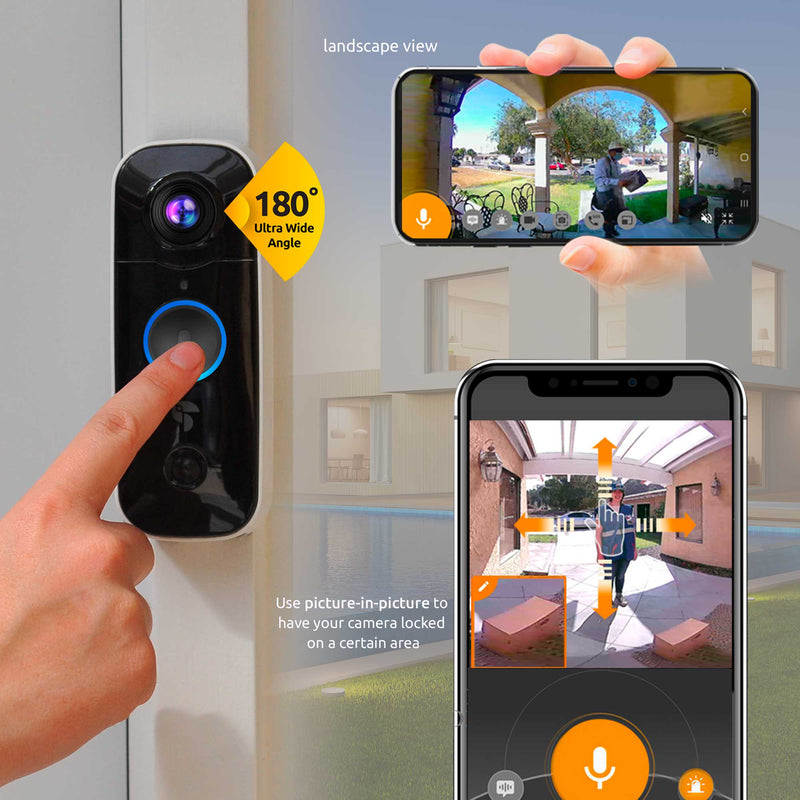 Wireless video doorbell package safe