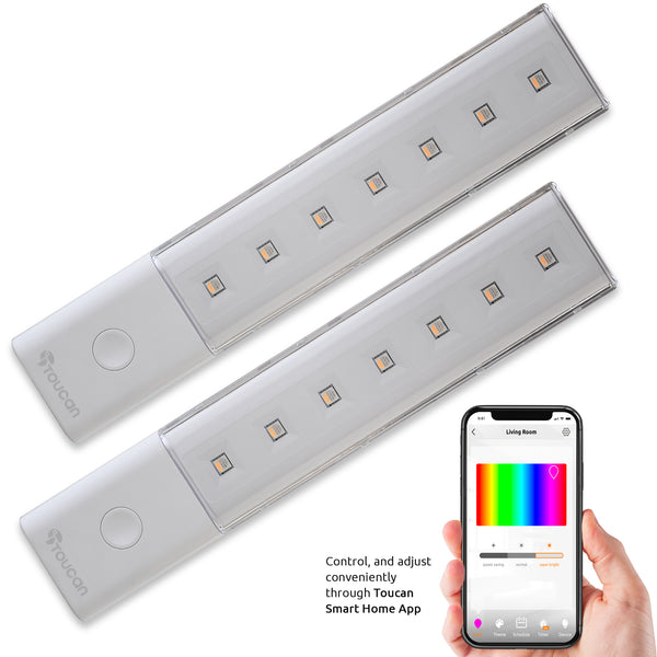Pair Toucan Wireless Smart Light Bars with Color Control