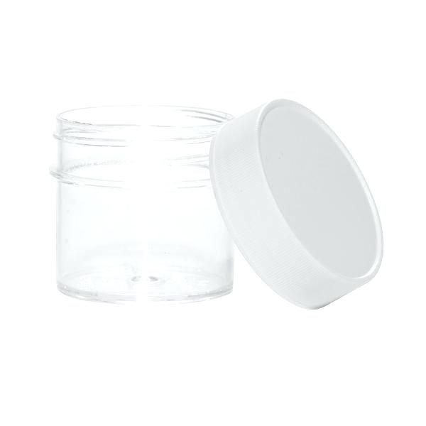 1/2 oz plastic ink jar with lid