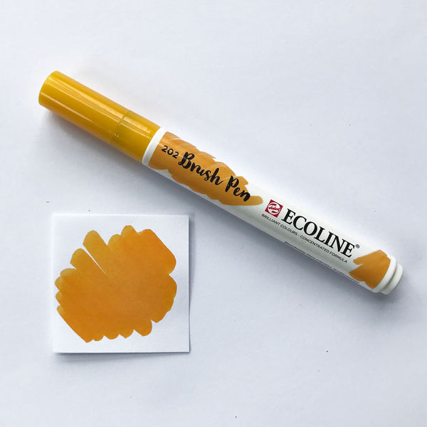 202 Deep Yellow Brush Marker - Quills