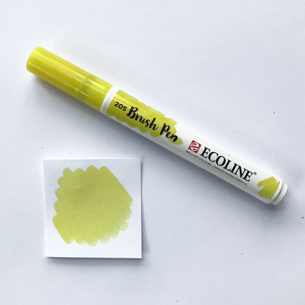 205 Lemon Yellow Brush Marker - Quills