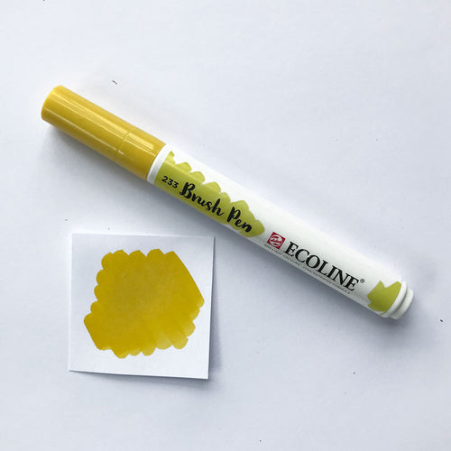 201 Light Yellow Brush Marker - Quills