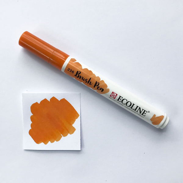 236 Light Orange Brush Marker - Quills