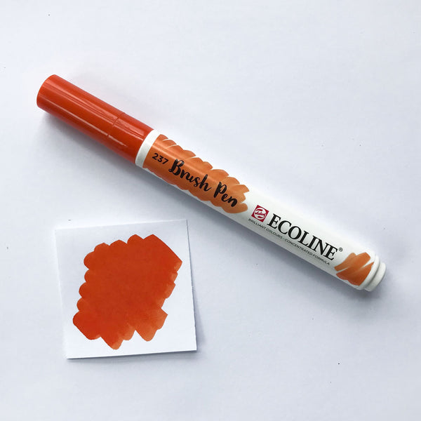 237 Deep Orange Brush Marker - Quills