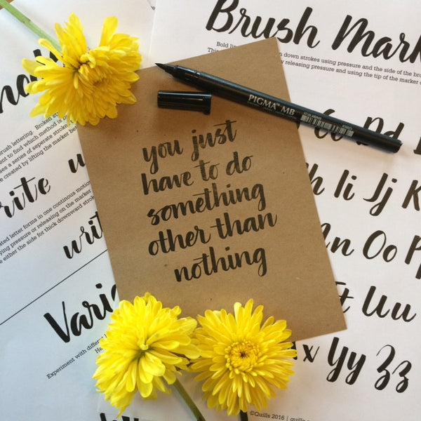 Brush Marker Lettering Workshop - June 17, 2017