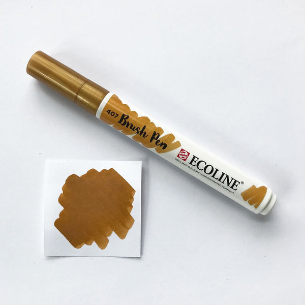 407 Deep Ochre Brush Marker - Quills