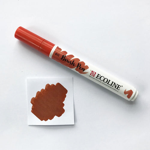 411 Burnt Sienna Brush Marker - Quills