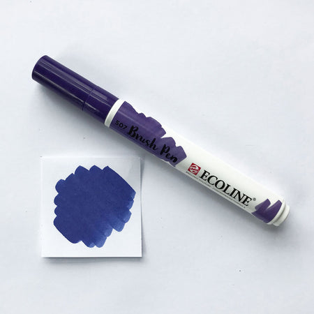 Set of 4 - Purple & Blue