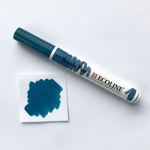 508 Prussian Blue Brush Marker - Quills