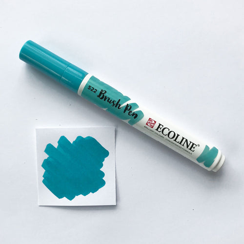522 Turquoise Blue Brush Marker - Quills