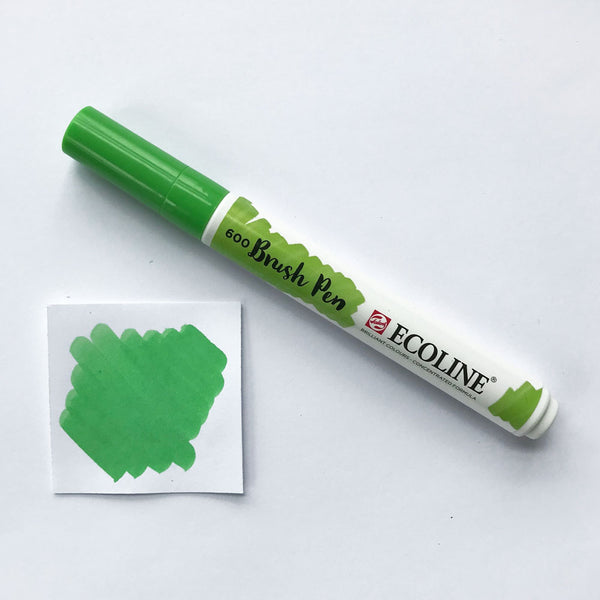 600 Green Brush Marker - Quills