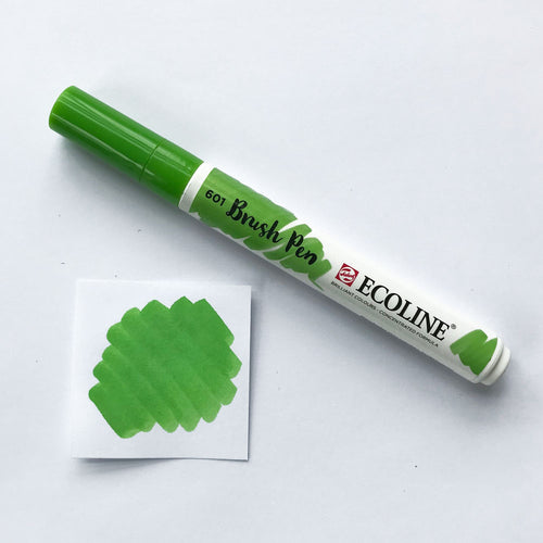 601 Light Green Brush Marker - Quills
