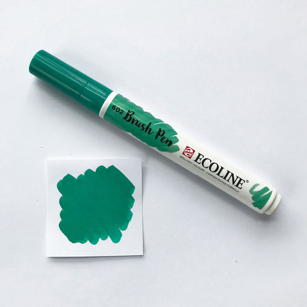 602 Deep Green Brush Marker - Quills