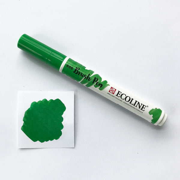 656 Forest Green Brush Marker - Quills