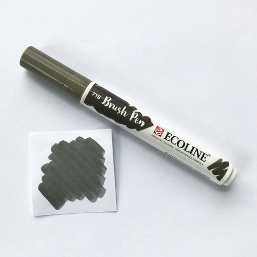 718 Warm Grey Brush Marker - Quills