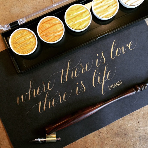 6 week course - Introduction to pointed pen Modern Calligraphy