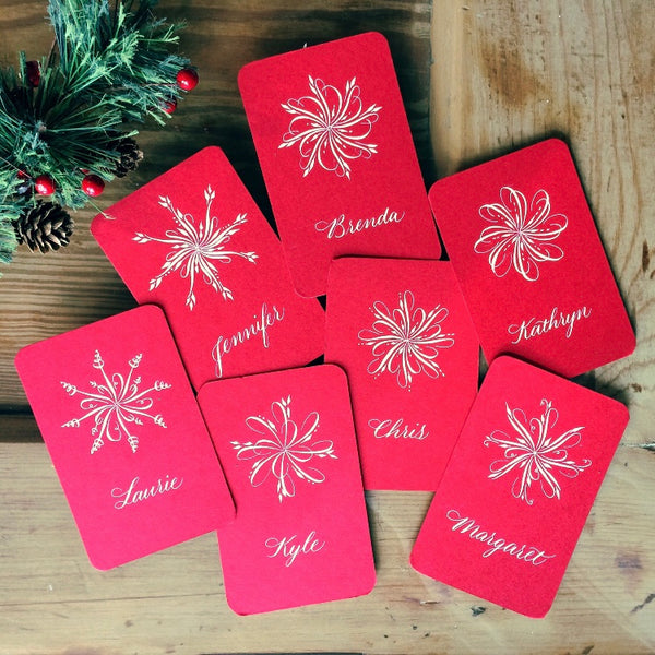 Flourished Holiday Tags and Cards, November 23