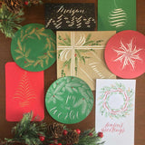 Flourished Holiday Tags and Cards, December 16 - Quills