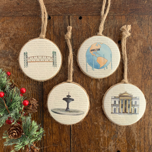 Set of 4 Hamilton Ornaments