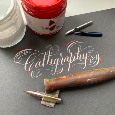 Introduction to Modern Pointed Pen 6 week Course - THURSDAY