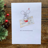 Set of 8 cards Stirring mouse