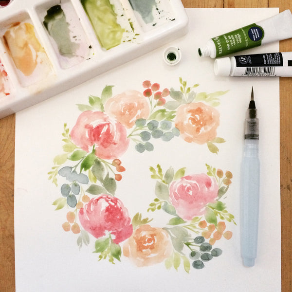 Watercolour Floral Monogram Workshop - July 16, 2017