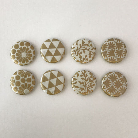 Set of 4 - Gold & Ivory