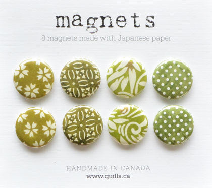 set of 8 green magnets
