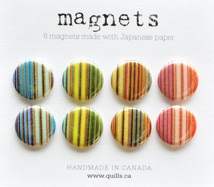 set of 8 stripe magnets