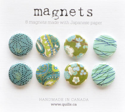 set of 8 turquoise magnets