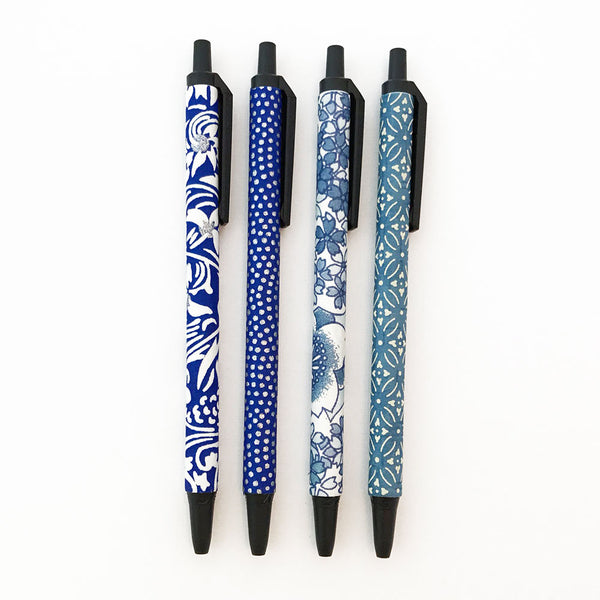 Set of 4 - Blue & White - Quills