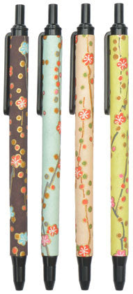 set of 4 retractable cherry blossom pens (black ink)