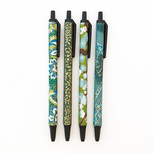 Set of 4 - Teal & Green - Quills