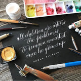 6 week course - Introduction to pointed pen Modern Calligraphy 2020