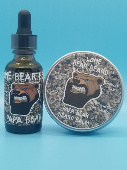 Papa Bear Oil and Balm Combo Set
