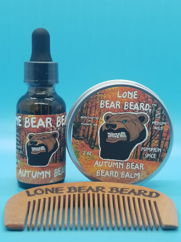Autumn Bear Oil and Balm Combo Set with Single Sided Comb