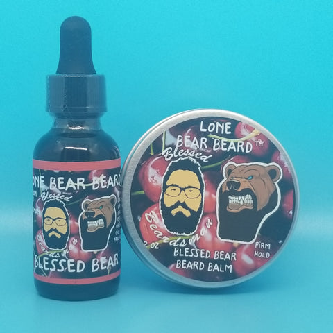 Blessed Bear Oil and Firm Hold Balm Combo Set