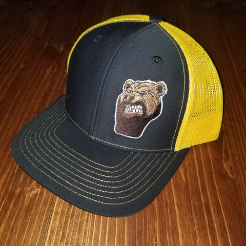 Lone Bear Beard Trucker Hat Black/Gold