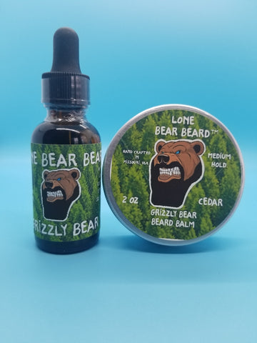 Grizzly Bear Oil and Balm Combo Set