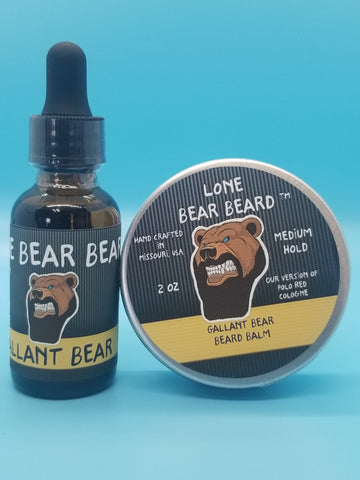 Gallant Bear Oil and Balm Combo Set