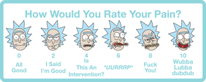 Rick and Morty Wong-Baker sticker pack