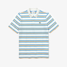 Load image into Gallery viewer, Lacoste Live Regular Fit Stripe Polo Shirt - White