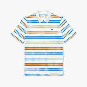 Lacoste Live Regular Fit Stripe Polo Shirt - White